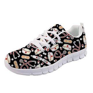 Nurse Pattern Canvas Fashion Sneakers