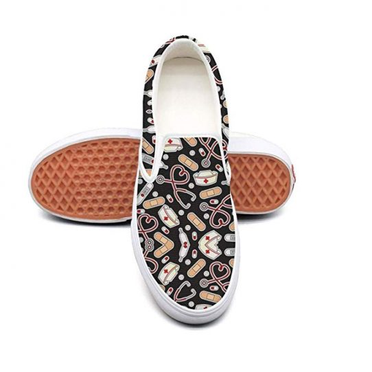 Nurse Pattern Slip on Sneakers