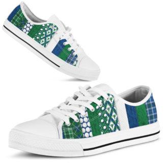 "Blue Green Golf Patterns Low Top@ golflifepro golfpttlow7746@low-top"" 22179"