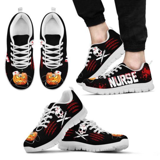 NURSE HALLOWEEN BLOOD SHOES@ proudnursing nurseblood0654@sneakers 26598