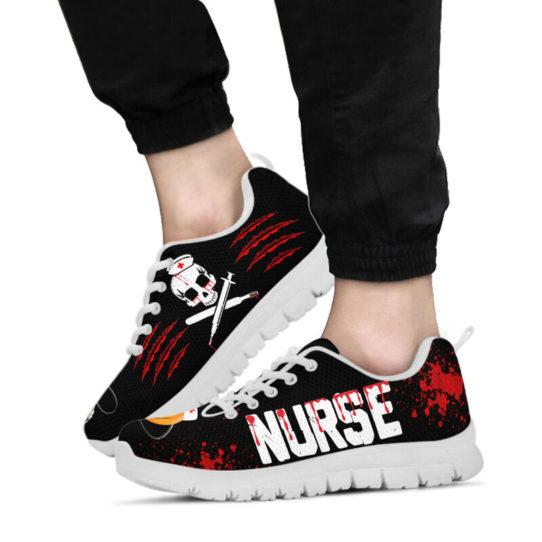 NURSE HALLOWEEN BLOOD SHOES@ proudnursing nurseblood0654@sneakers 26600