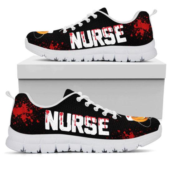 NURSE HALLOWEEN BLOOD SHOES@ proudnursing nurseblood0654@sneakers 26601