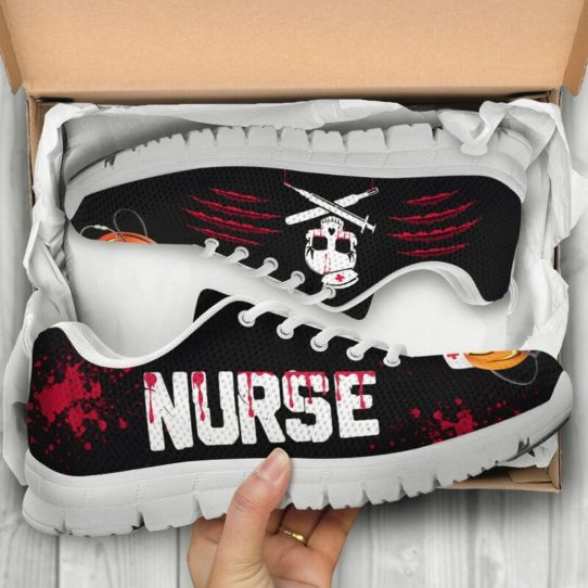 NURSE HALLOWEEN BLOOD SHOES@ proudnursing nurseblood0654@sneakers 26602