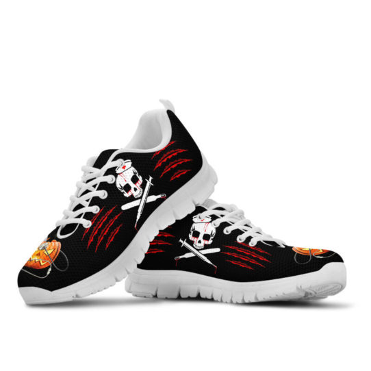 NURSE HALLOWEEN BLOOD SHOES@ proudnursing nurseblood0654@sneakers 26603