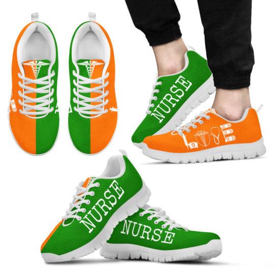 NURSE- LOVE GREEN ORANGE@ proudnursing NURSELOVEGREENORANGE5456ZDC@sneakers 26032