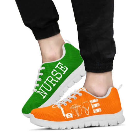 NURSE- LOVE GREEN ORANGE@ proudnursing NURSELOVEGREENORANGE5456ZDC@sneakers 26033