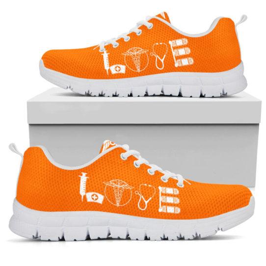 NURSE- LOVE GREEN ORANGE@ proudnursing NURSELOVEGREENORANGE5456ZDC@sneakers 26034