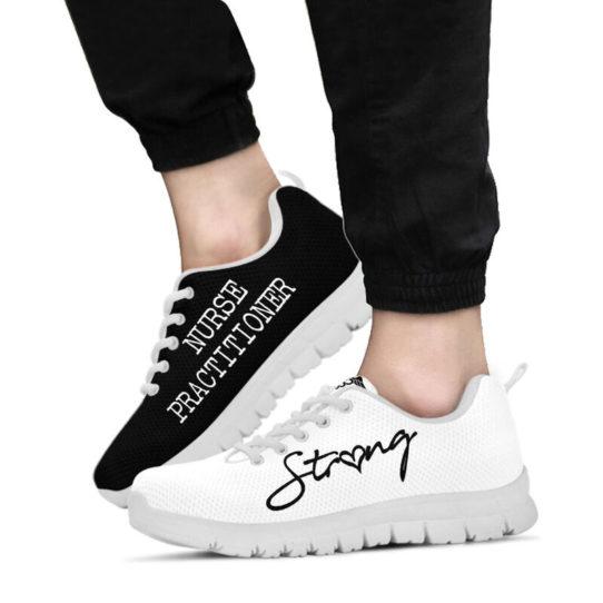 NURSE-STRONG Practitioner black white@ proudnursing nurse607fv@sneakers 26159