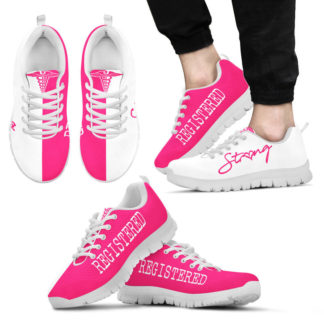 NURSE-STRONG registered pink white@ proudnursing nurse605ri@sneakers 26724