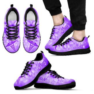 NURSE SUNFLOWER PURPLE KD@ proudnursing nursepurplekd06548@sneakers 25464