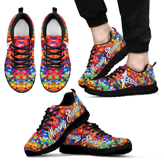 NURSING STUDENT PAINT ART KD@ proudnursing nursingstudentPA05432@sneakers 25590