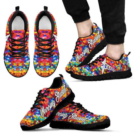 NURSING STUDENT PAINT ART KD@ proudnursing nursingstudentPA05432@sneakers 25591
