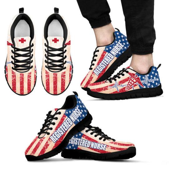 REGISTERED NURSE USA FLAG@ proudnursing REGISTEREDNURSE545DCB@sneakers 25842