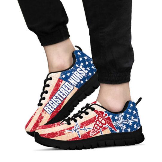 REGISTERED NURSE USA FLAG@ proudnursing REGISTEREDNURSE545DCB@sneakers 25844