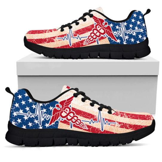 REGISTERED NURSE USA FLAG@ proudnursing REGISTEREDNURSE545DCB@sneakers 25845