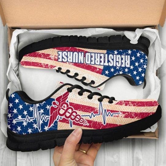 REGISTERED NURSE USA FLAG@ proudnursing REGISTEREDNURSE545DCB@sneakers 25846