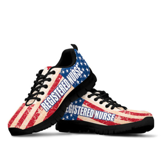 REGISTERED NURSE USA FLAG@ proudnursing REGISTEREDNURSE545DCB@sneakers 25847