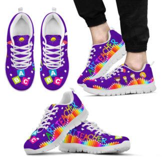ART TEACHER abc- purple@ proudteaching artbdhjbvgjd@sneakers 80520